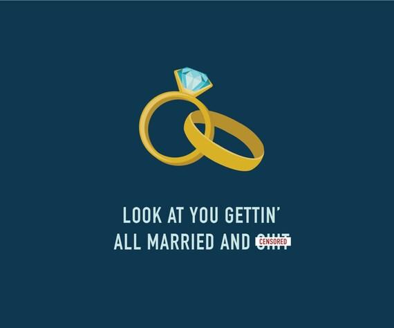 Funny Wedding Card Funny Engagement Card By ClassyCardsCreative
