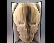 Skull  Book Folding PATTERN~Folded Book art Patterns~ PATTERN