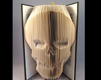 Skull  Book Folding PATTERN~Folded Book art Patterns~ PATTERN