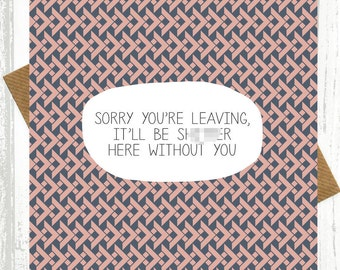 Funny Leaving Card   Itu0027ll Be Sh*tter Here Without You   Good  Good Luck Cards To Print