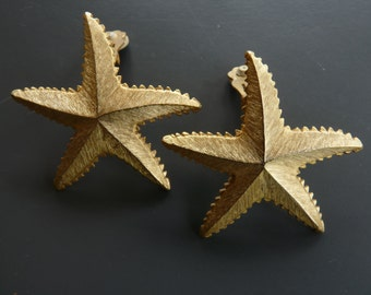 GUY LAROCHE - earrings ears/clips sea stars