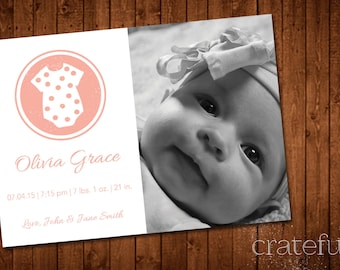 Circle- Baby Announcement- Photos- Onesie- Digital- Printable- Custom