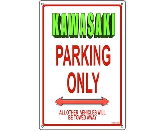Motorcyle Parking metal sign Kawasaki