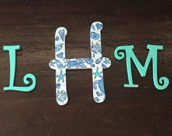 Monogram Wooden Letters