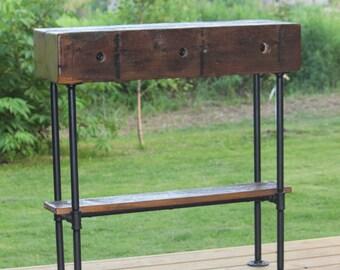 Barn Wood Beam Industrial Sofa Table