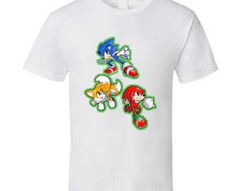 Sonic the Hedgehog - Sonic, Tails, and Knuckles - White T-Shirt