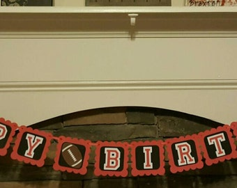 UGA birthday banner. Georgia bulldogs birthday. UGA football birthday banner.