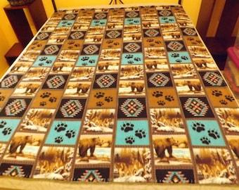 Fleece Blanket, Twin, S.W. Bears