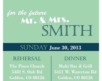 Customizable Wedding rehersal Invite