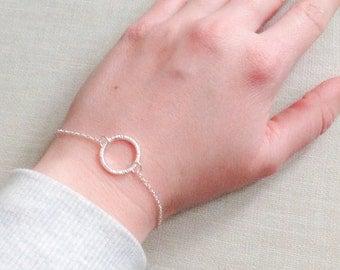 Karma bracelet, O bracelet, circle bracelet, cute bracelet in gold, silver or rosegold