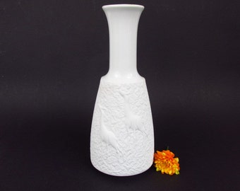 Vintage Op Art bisque porcelain vase by Schumann Arzberg / 1097 26 | 70s