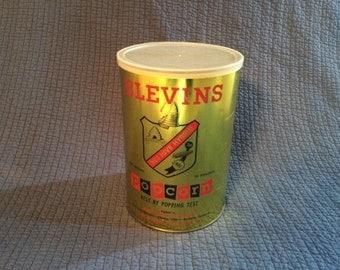Vintage Blevins Popcorn Tin Can