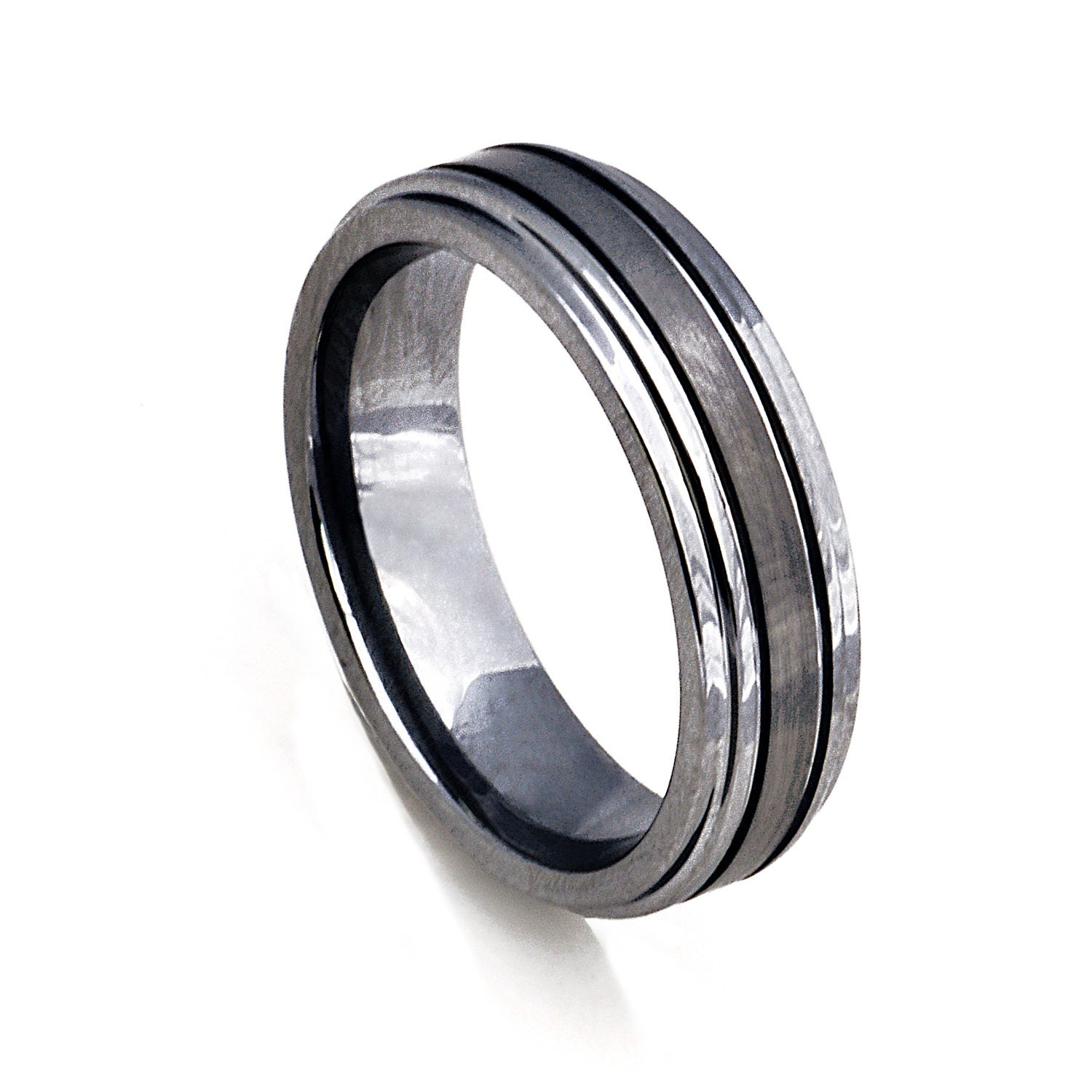 thin silver tungsten men 39 s wedding band 6mm men 39 s by. Black Bedroom Furniture Sets. Home Design Ideas