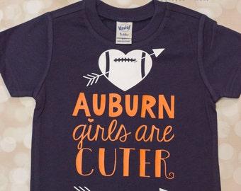 Football Shirt; AUBURN Girls are Cuter