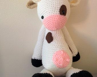 Cow amigurumi (made to order)