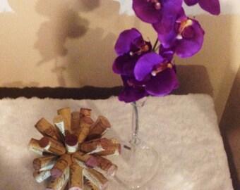Wine corks decor piece