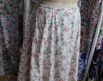 Long floral cotton skirt REF253