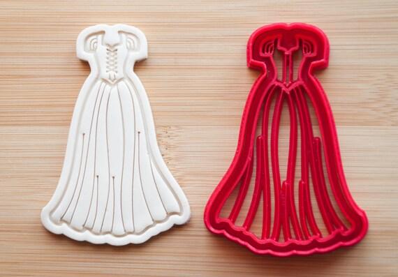 Cookie cutters princess dress wedding dress rapunzel dress for Wedding dress cookie cutters