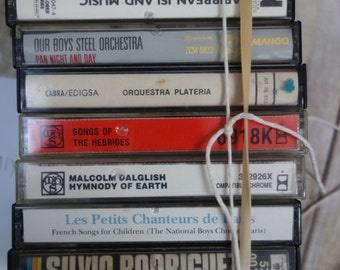 one lot of NINE 80's cassete tapes, World music and classical