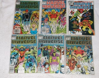 marvel comics-marvel universe #2-lot of 6-1980s-GD