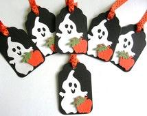 Ghost Halloween Tags - Handmade Spooky Halloween Favor Tags