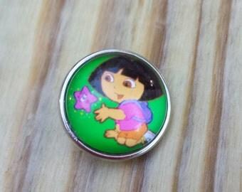 Dora the Explorer Snap Button