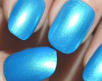 Pearlescent Blue - Handmade Indie Nail Polish - by Vuuxi