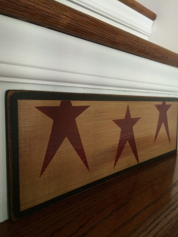 Rustic home decor primitive star stencil country home for Country star decorations home