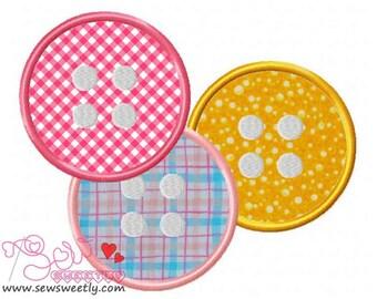 Buttons-2 Applique Design.