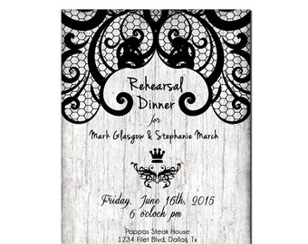 Wedding Rehearsal Dinner Invitations, Wedding Rehearsal Invitations, Wedding Rehearsal Dinner Invites, Wedding Rehearsal Invitations