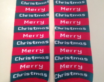 Winter/Christmas themed leg or arm warmers