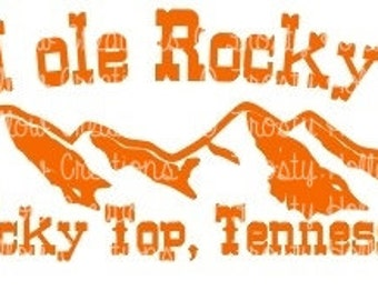 Good Ole Rocky Top cutting file SVG instant download for PERSONAL USE only!