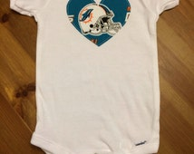 Unique Miami Dolphins Baby Related Items Etsy