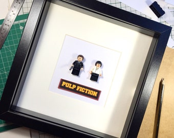 Pulp Fiction Lego Framed Art Gift