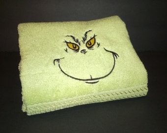 Grinch Hand Towels