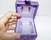 Mini Purple jewelry travel box