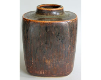 Valdemar Petersen, Bing & Grondahl, Denmark, Stoneware Vase. Mid Century