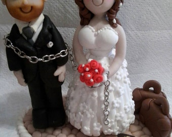 Wedding cake topper made entirely by hand