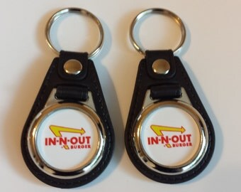 In-N-Out burger keychain fob 2 pack