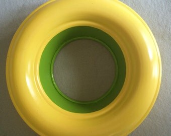Yellow and Green Ring Repurposed Vintage Jello Mold