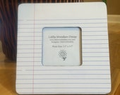 Notebook Paper Picture Frame / Picture Frame / School Theme Picture Frame