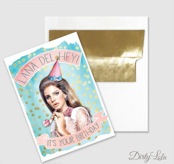 Birthday Card Lana Del Hey Art Lana Del Hey Funny