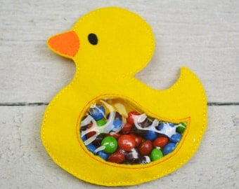 Large Rubber Duckie Candy Pouch