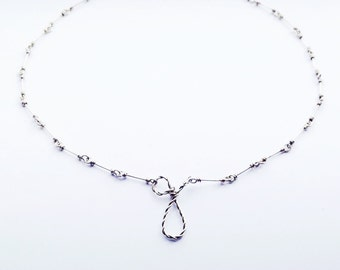 Letter pendant necklace - silver -