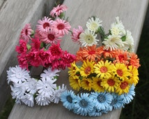Bunch of 10-Miniature Millinery Flower Bunch Wired Daisy Flower Bridal Hair Accessories,Flower Crown,Party Favors,Wedding Home Decor