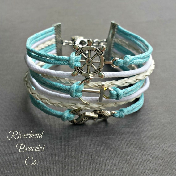 Mermaid Bracelet, Silver Mermaid Bracelet, Nautical ...
