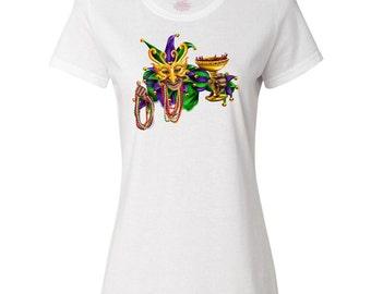 Mardi Gras Jester Women's T-Shirt by Inktastic