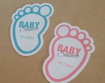 Custom Die-Cut Baby Shower Stickers - Baby Shower Thank You Stickers - Colors and Text Customizable!