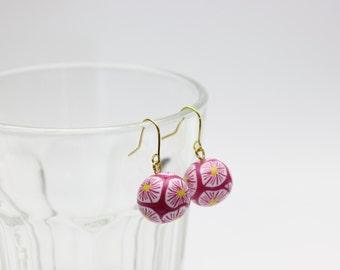 Handmade polymer clay beads earrings