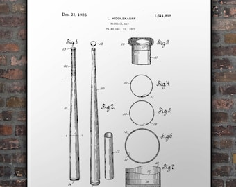 Us Patent Baseball Bat 1923
